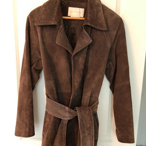 Brown Suede Margaret Godfrey Leather Jacket